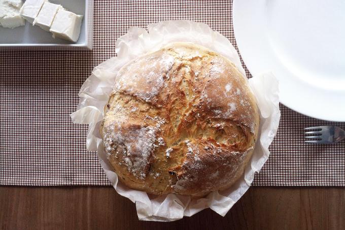 KitchenAid ile ilk deneme: Keten tohumlu, cevizli ekmek